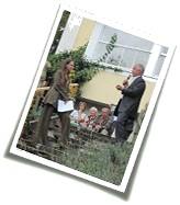 Herr Pfarrer Fliege, Annette Müller - Begrüßung