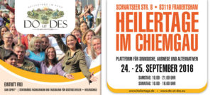 DO UT DES® Heilertage im Chiemgau