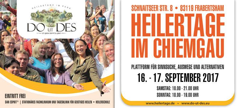 Programm DO UT DES 2017 - Heilertage im Chiemgau