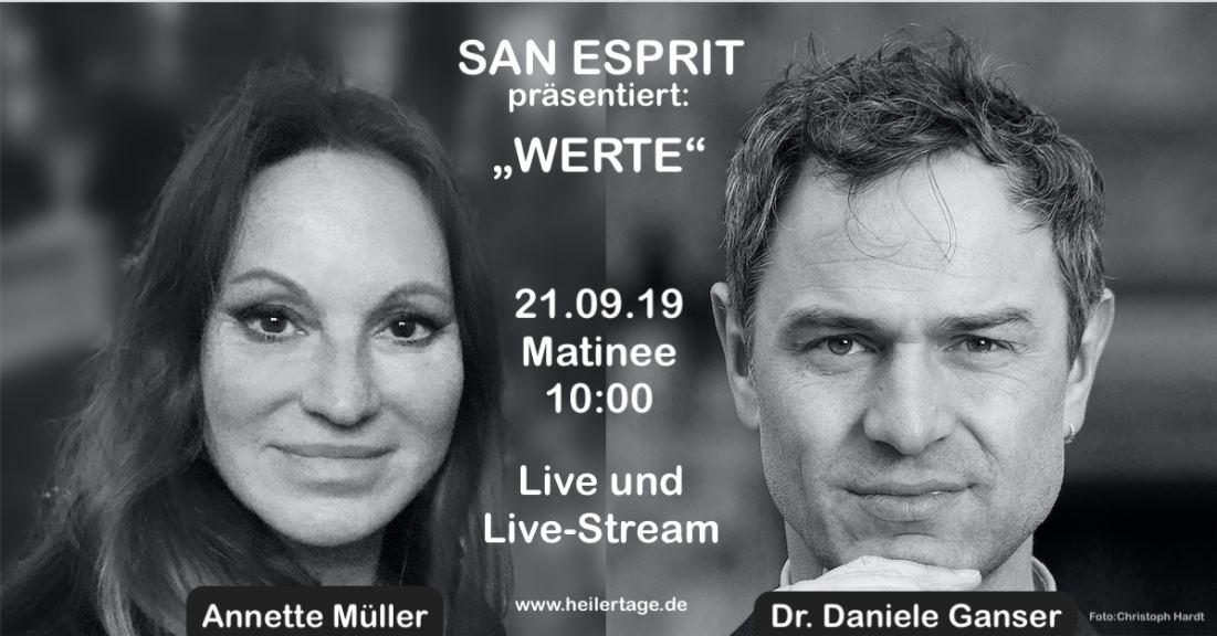 Annette Müller und Dr. Daniele Ganser